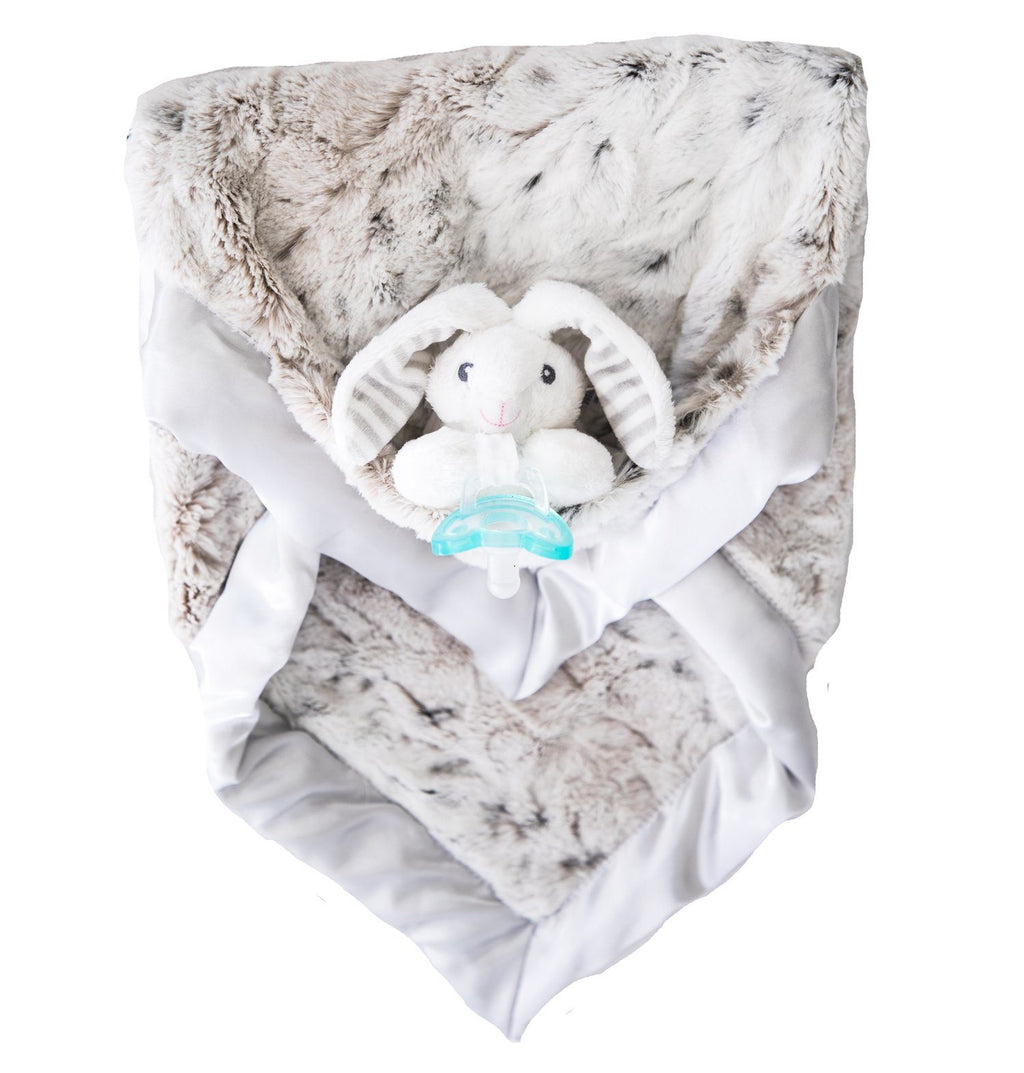 Coco Bunny Luxie Pockets Lovey Blanket - Project Nursery