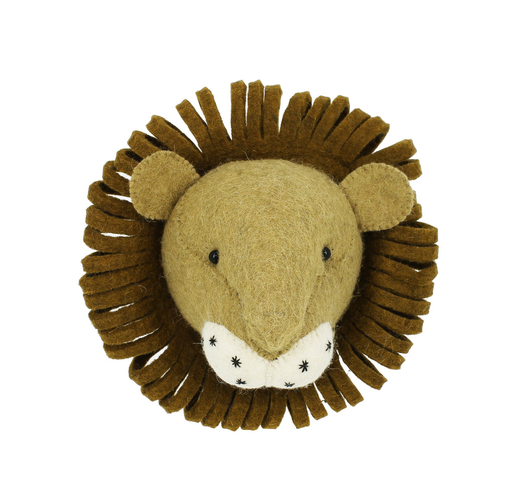 Mini Lion Head Wall Hanging - Project Nursery