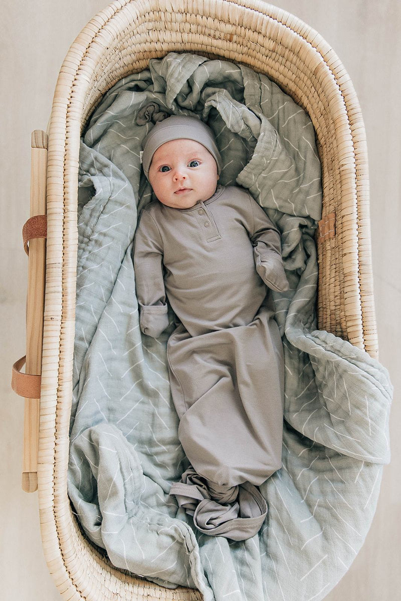 Desert Sage Muslin Swaddle Blanket - Project Nursery