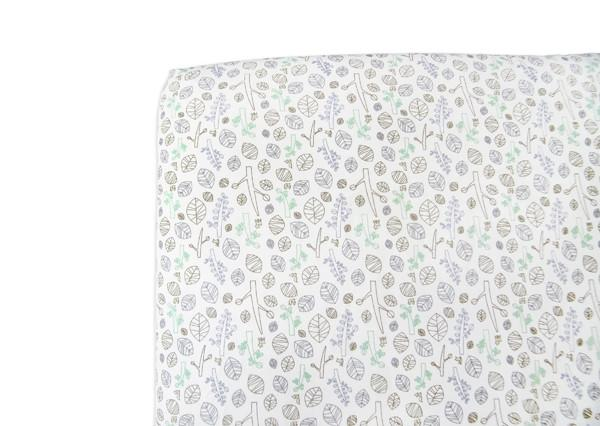 Tranquil Woods Oval Fitted Crib Sheet