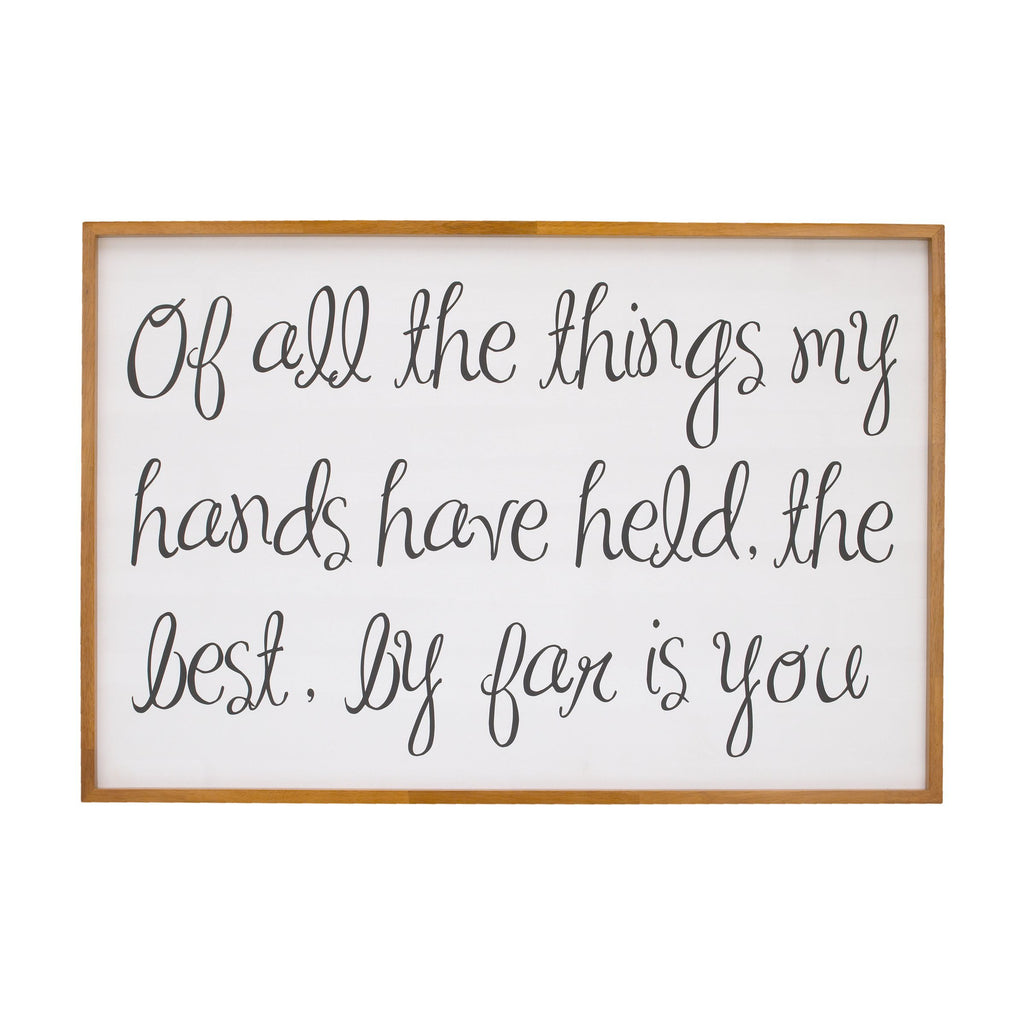 Of All the Things Framed Canvas Wall Decor - Project Nursery