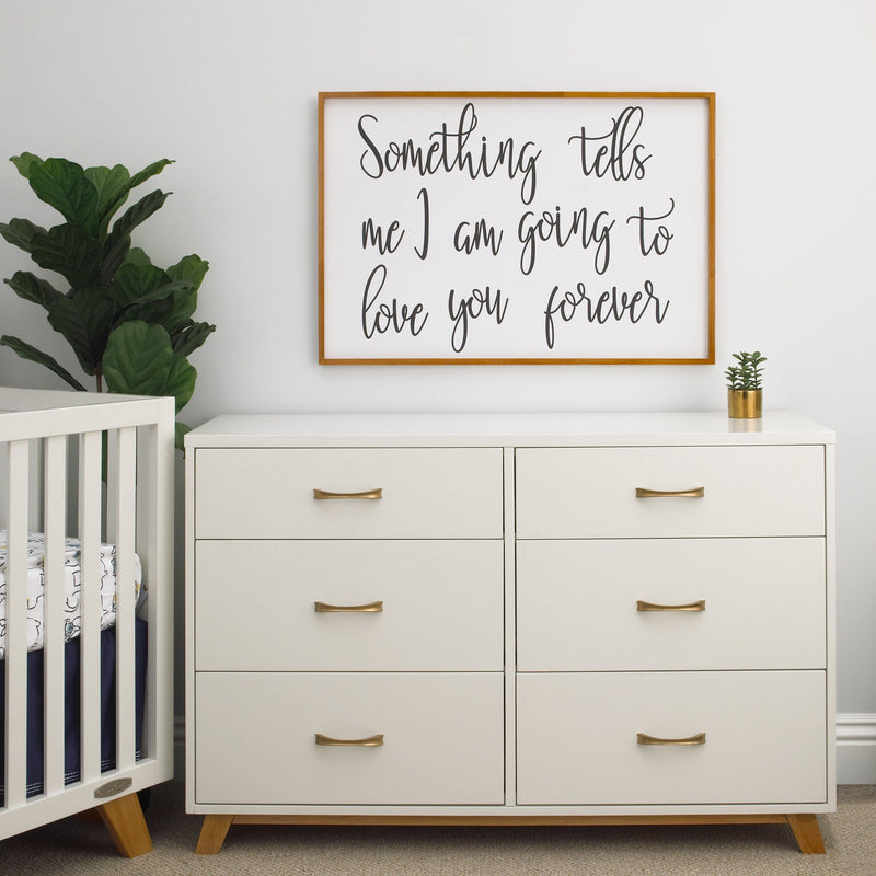 Something Tells Me Framed Canvas Wall Decor - Project Nursery