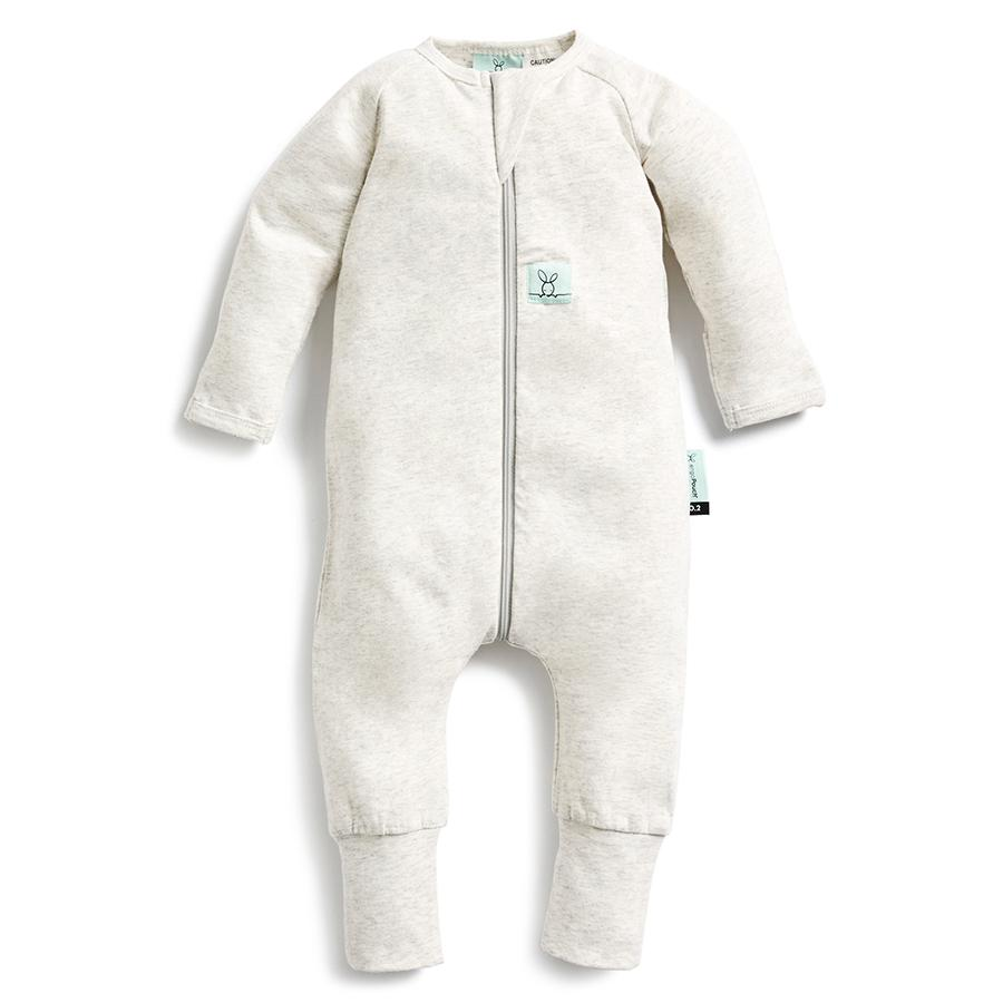Grey Marle Long Sleeve Zippered Romper - Project Nursery