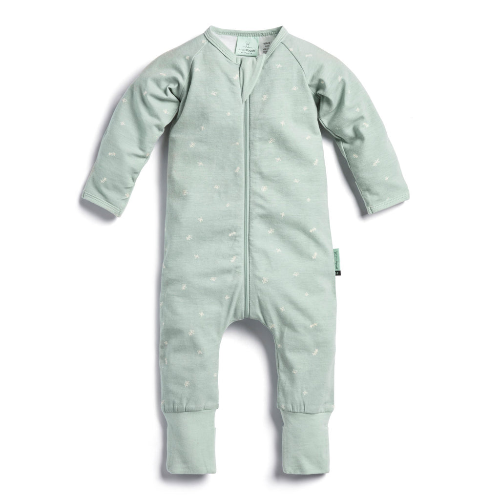 Sage Long Sleeve Zippered Romper - Project Nursery
