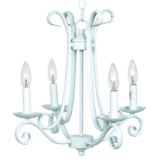 Harp Chandelier in Baby Blue  - The Project Nursery Shop