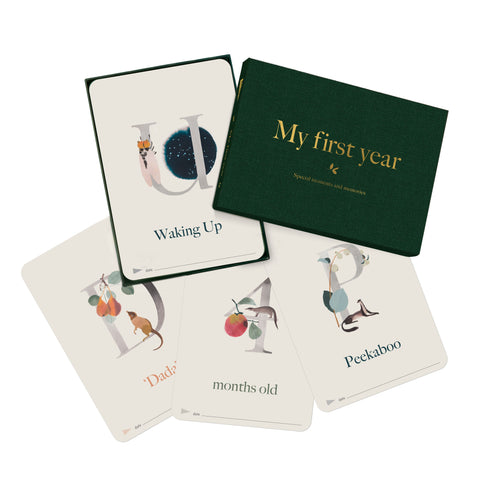 Baby Milestone + Moment Cards - Wildflower Collection