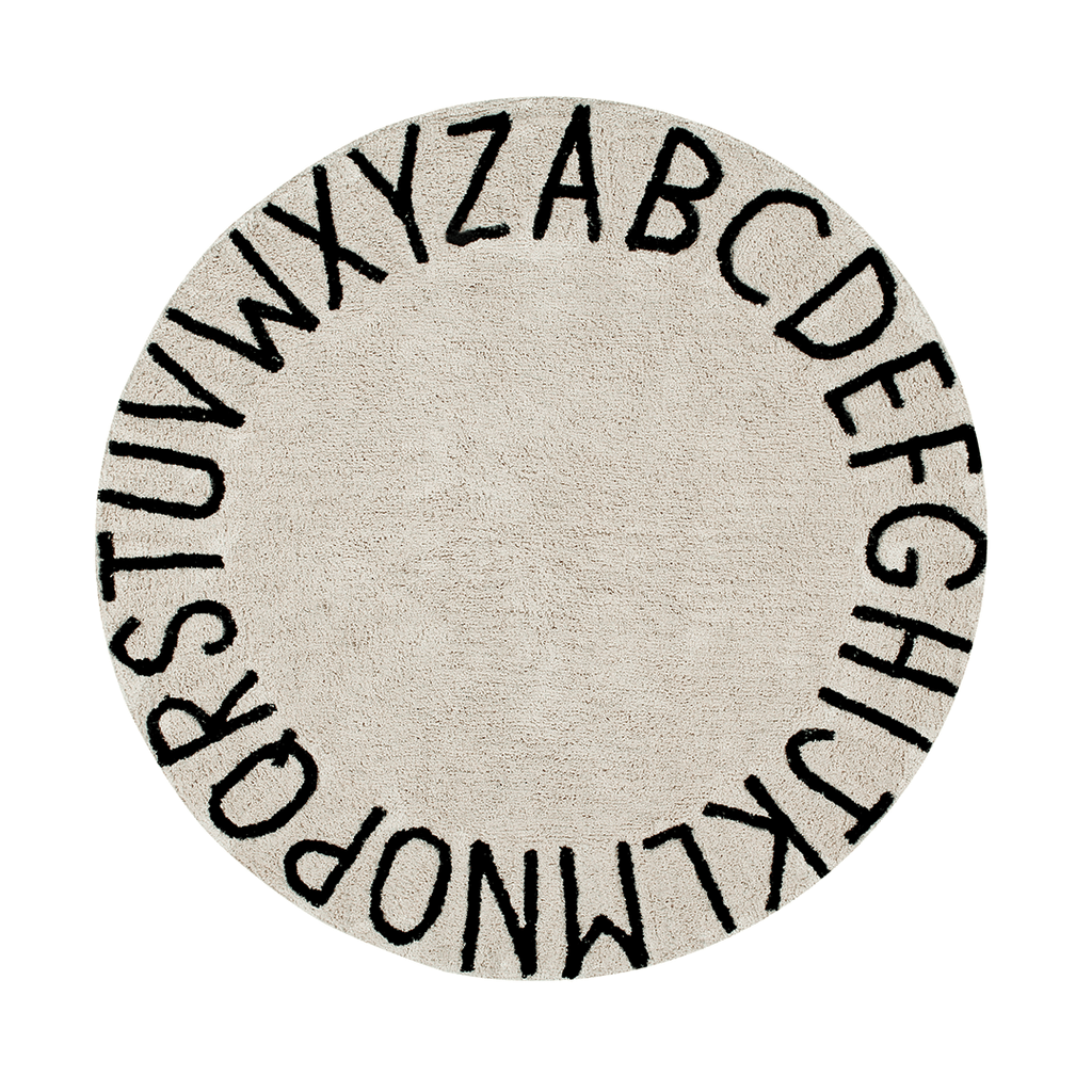 Round ABC Rug Natural - The Project Nursery Shop - 1