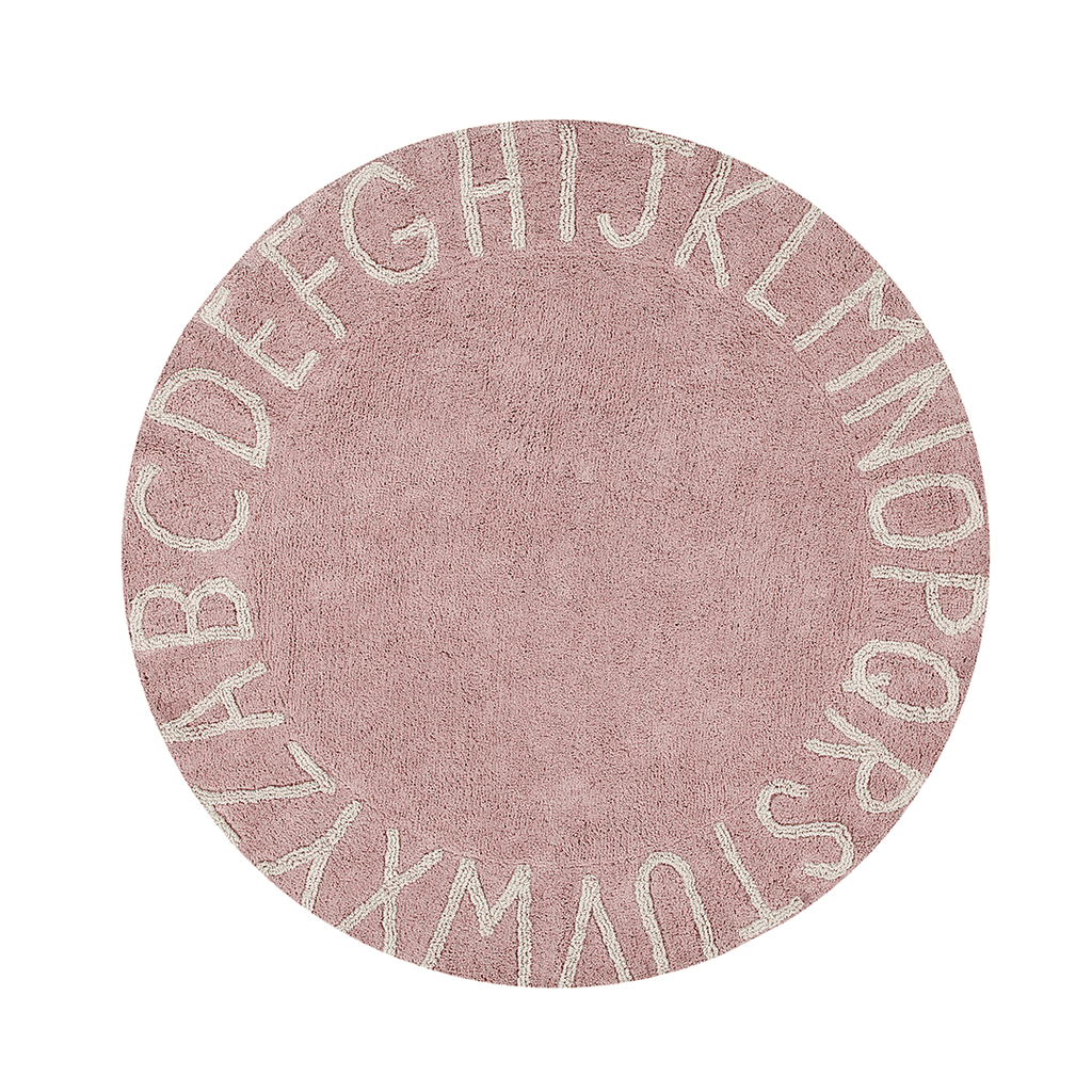 Round ABC Rug Nude - The Project Nursery Shop - 13