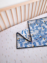 No Place Like Home Organic Crib Sheet - Rainbow Clouds - Project Nursery