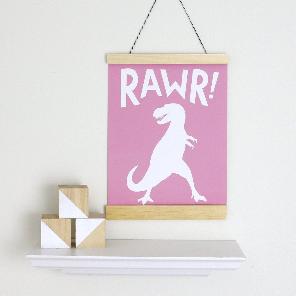 Rawr! Canvas Banner  - The Project Nursery Shop - 2
