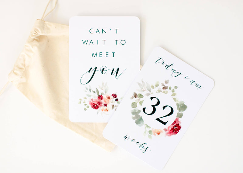 Pregnancy Milestone + Moment Cards - Fleur Collection - Project Nursery