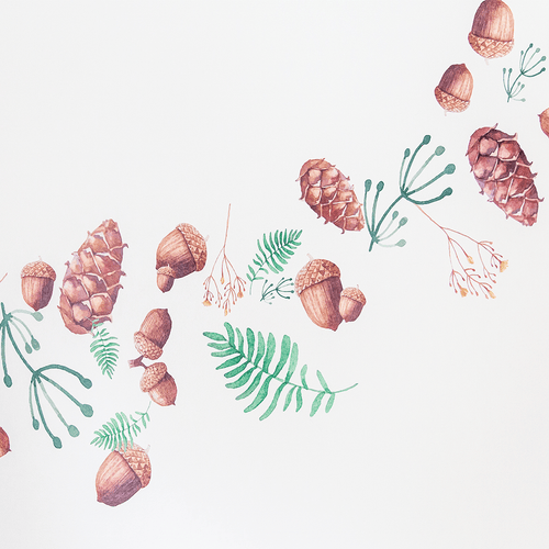 Woodland Acorn + Pinecones Wall Decals - Project Nursery