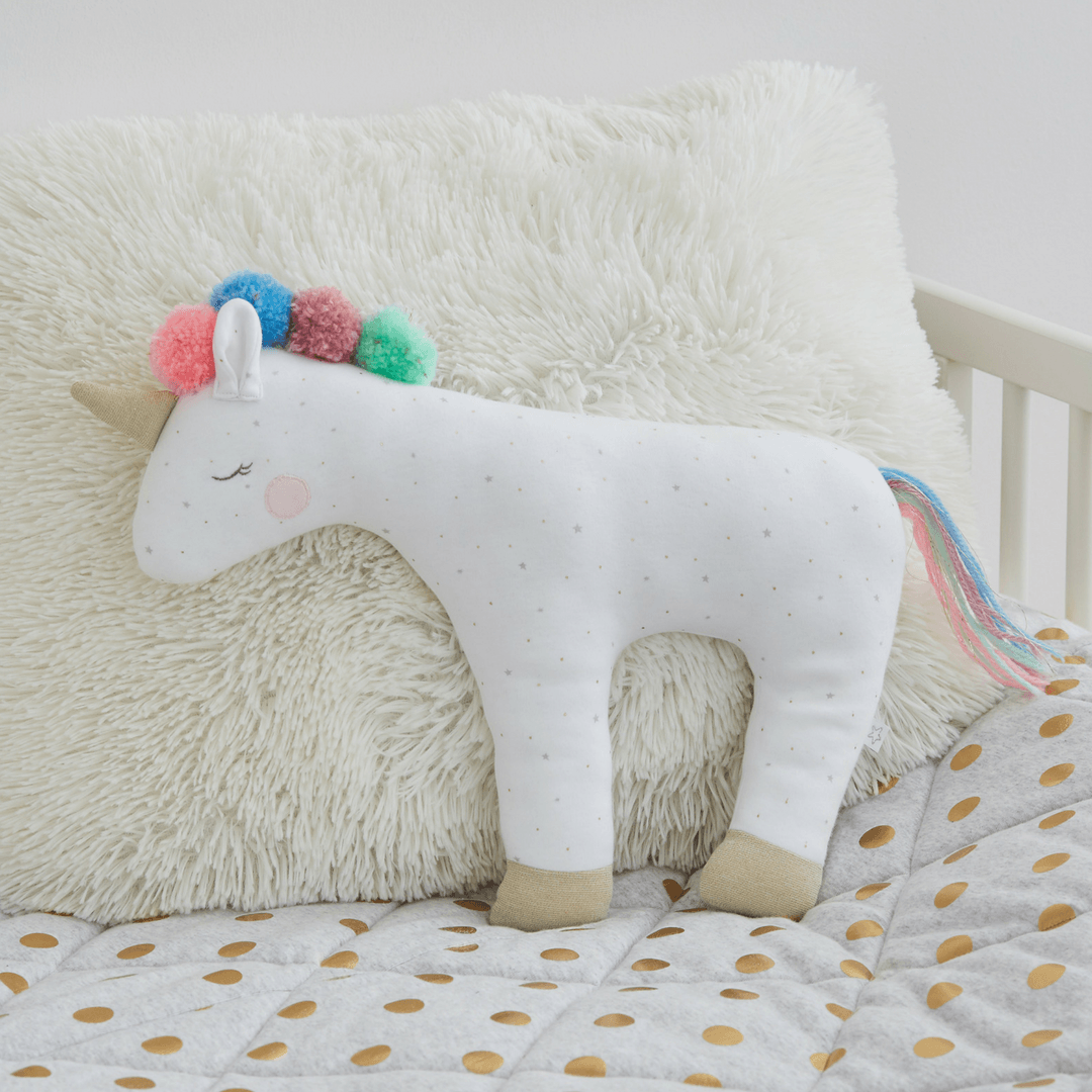 Decorative Unicorn Stars + Dots Pillow - Project Nursery