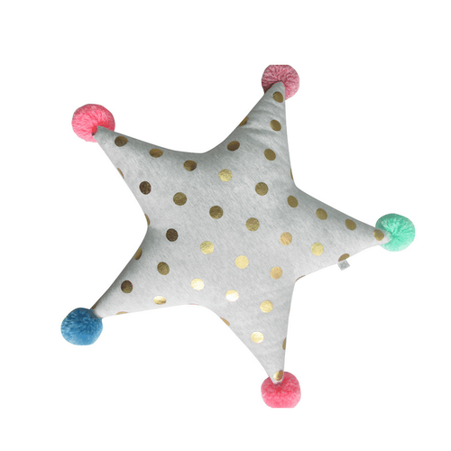 Decorative Star with Pom Poms - Project Nursery