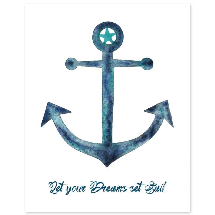 Set Sail Anchor Print  - The Project Nursery Shop