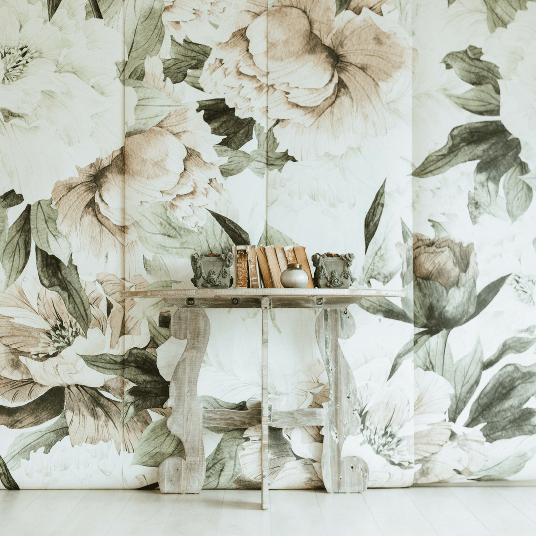 Blush Floral Wallpaper Mural - Project Nursery