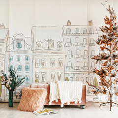 Parisian Street Wallpaper Mural - Project Nursery