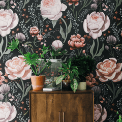 Rose Le Soir Wallpaper Mural - Project Nursery