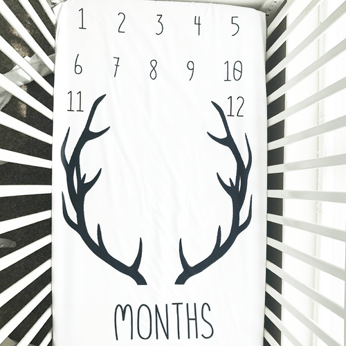 Antler Milestone Crib Sheet - Project Nursery