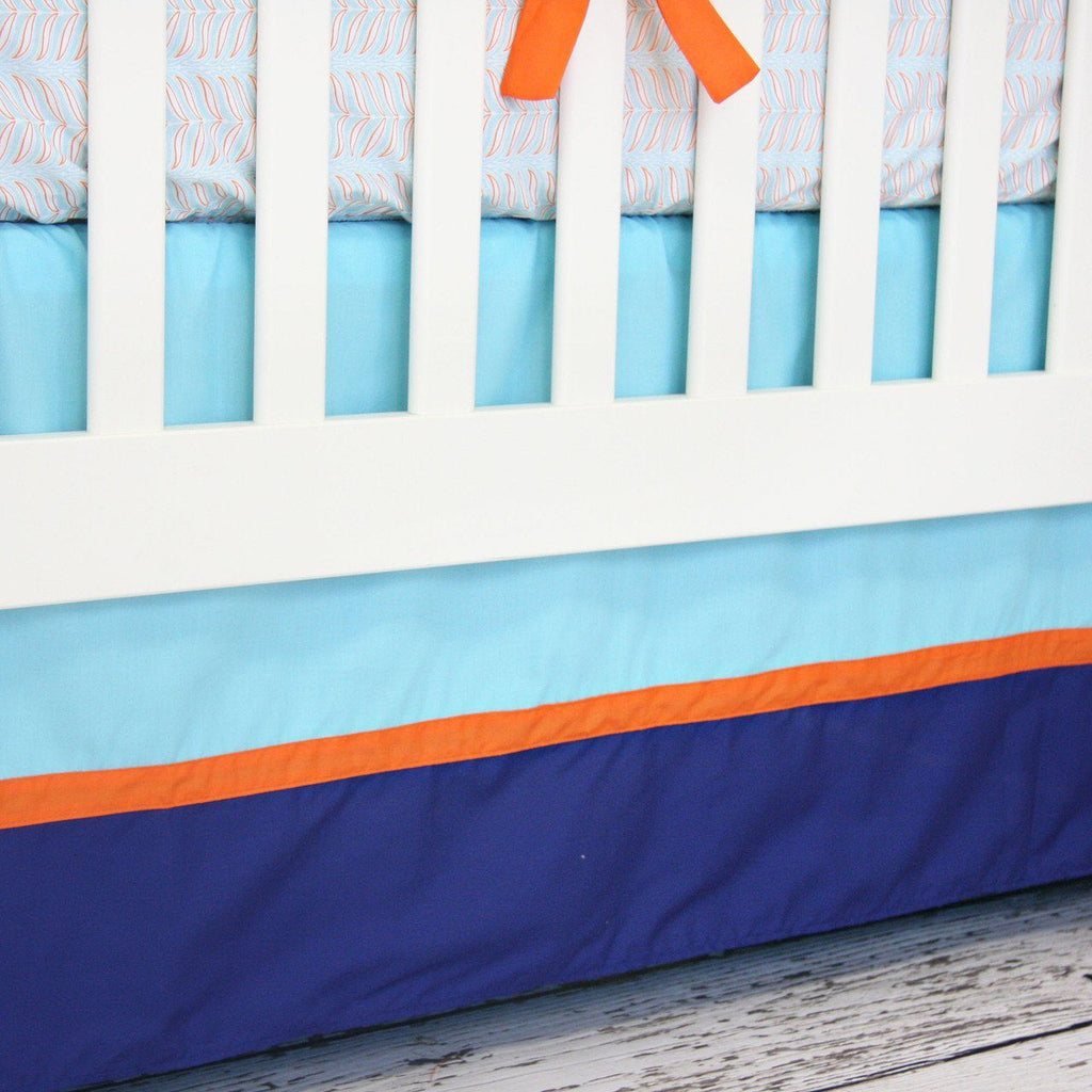 Aqua and Navy Mod Mix 3pc Crib Set  - The Project Nursery Shop - 3