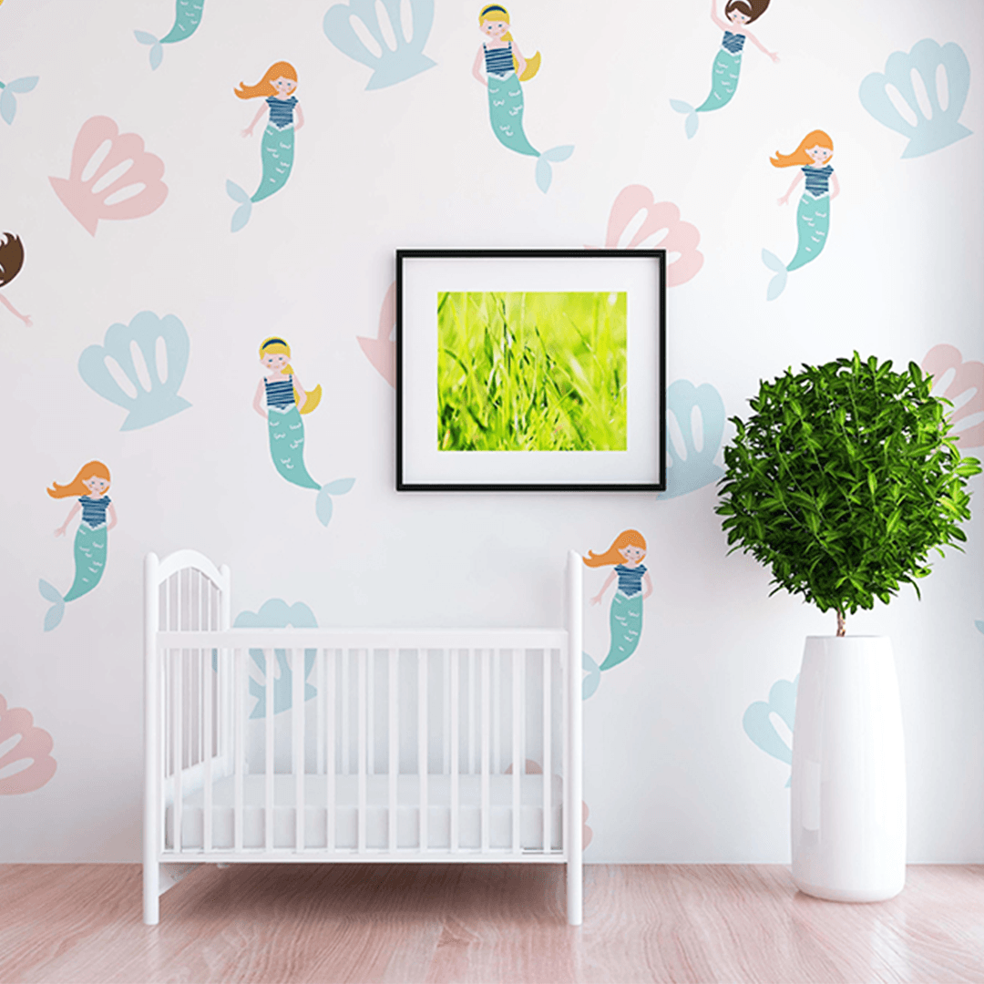 Ariel Mermaid Wall Decal Set