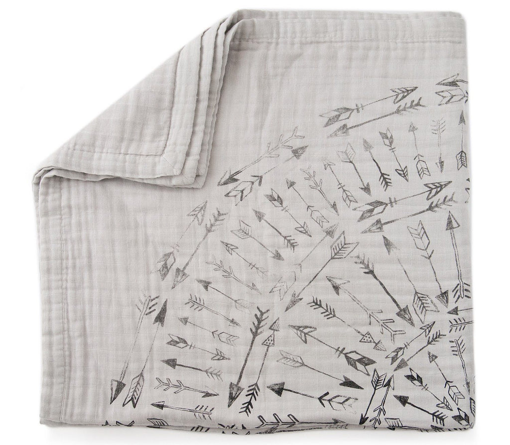 'Faded Arrows' 4-Layer Organic Cotton Happy Cloud Luxury Blanket  - The Project Nursery Shop - 4