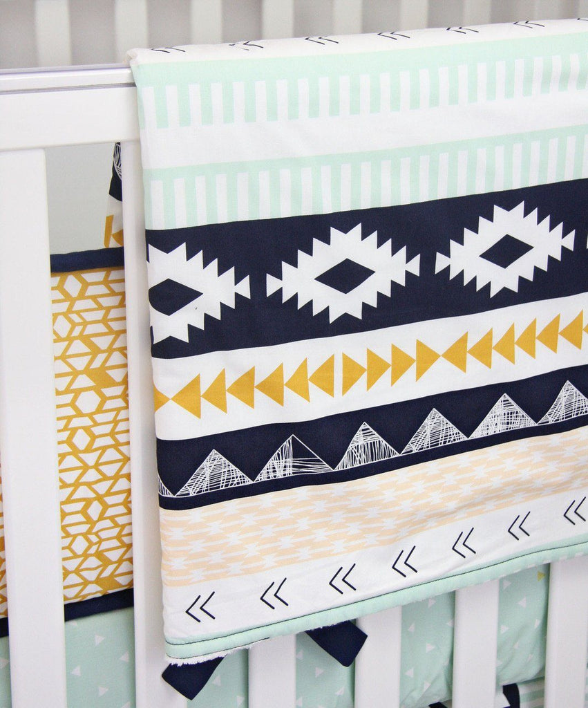 Southwest Gold and Mint Blanket  - The Project Nursery Shop - 2