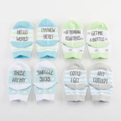 Silly Soles 4-Pair Sock Set - Boy - Project Nursery