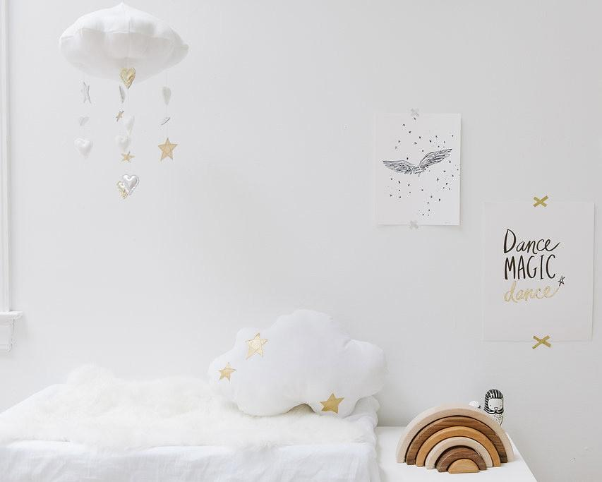LUXE Cascading Heart + Star Cloud Mobile  - The Project Nursery Shop - 3