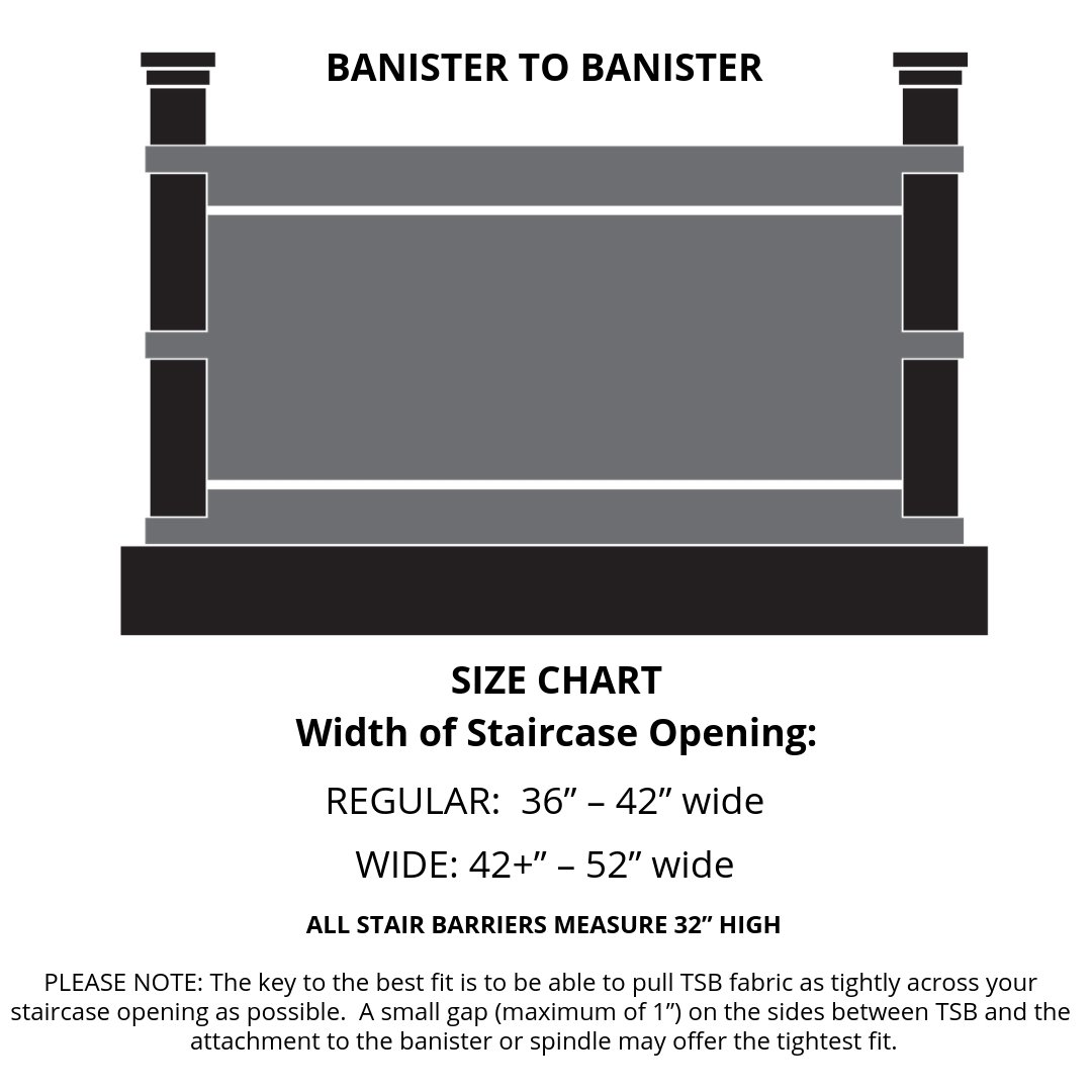 The Stair Barrier Banister-to-Banister Gate - Black Farmhouse Lines - Project Nursery