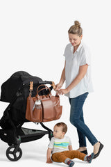 Peek-a-Boo Satchel Diaper Bag - Toffee - Project Nursery