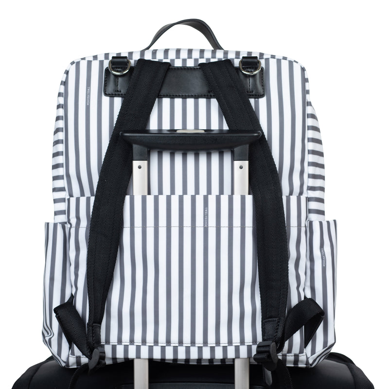 Peek-a-Boo Backpack Diaper Bag - Stripe - Project Nursery