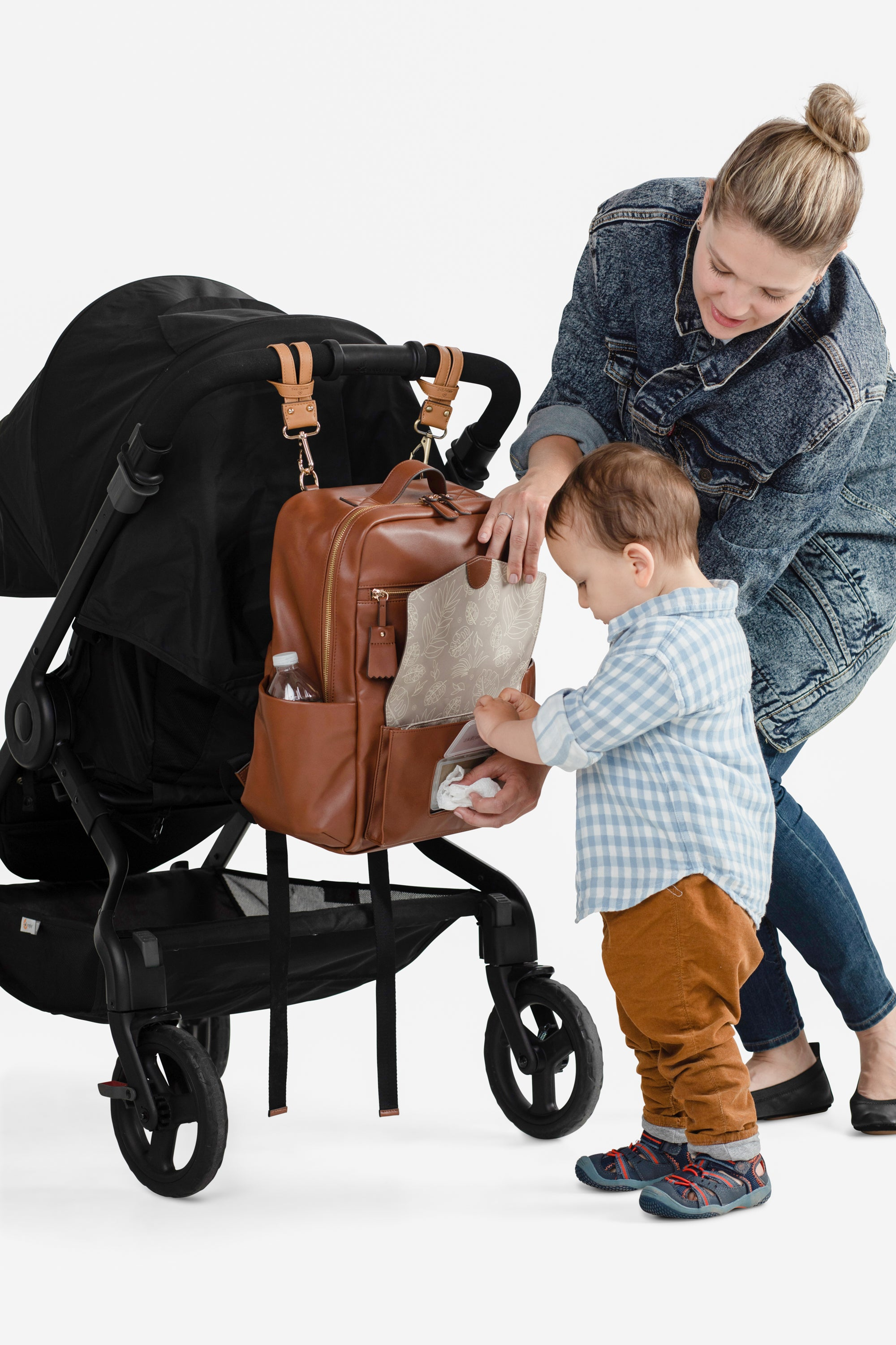 Peek-a-Boo Backpack Diaper Bag - Toffee - Project Nursery
