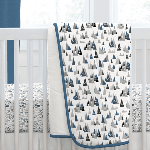 Blue Mountains Crib Skirt