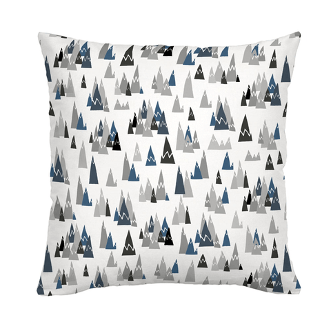 Blue Woodland Throw Pillow