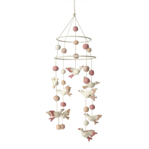 Large Floral Mobile - Fuchsia