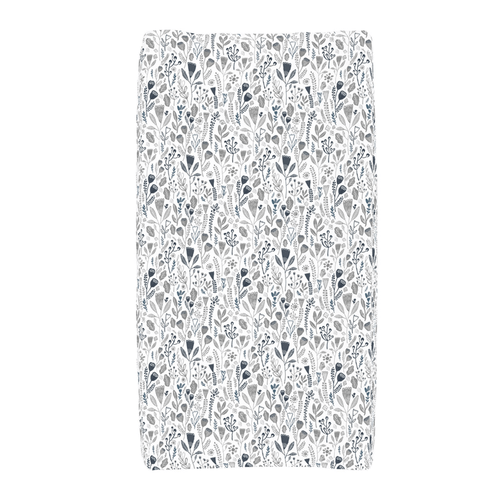 Blue Woodland Changing Pad Cover - Project Nursery