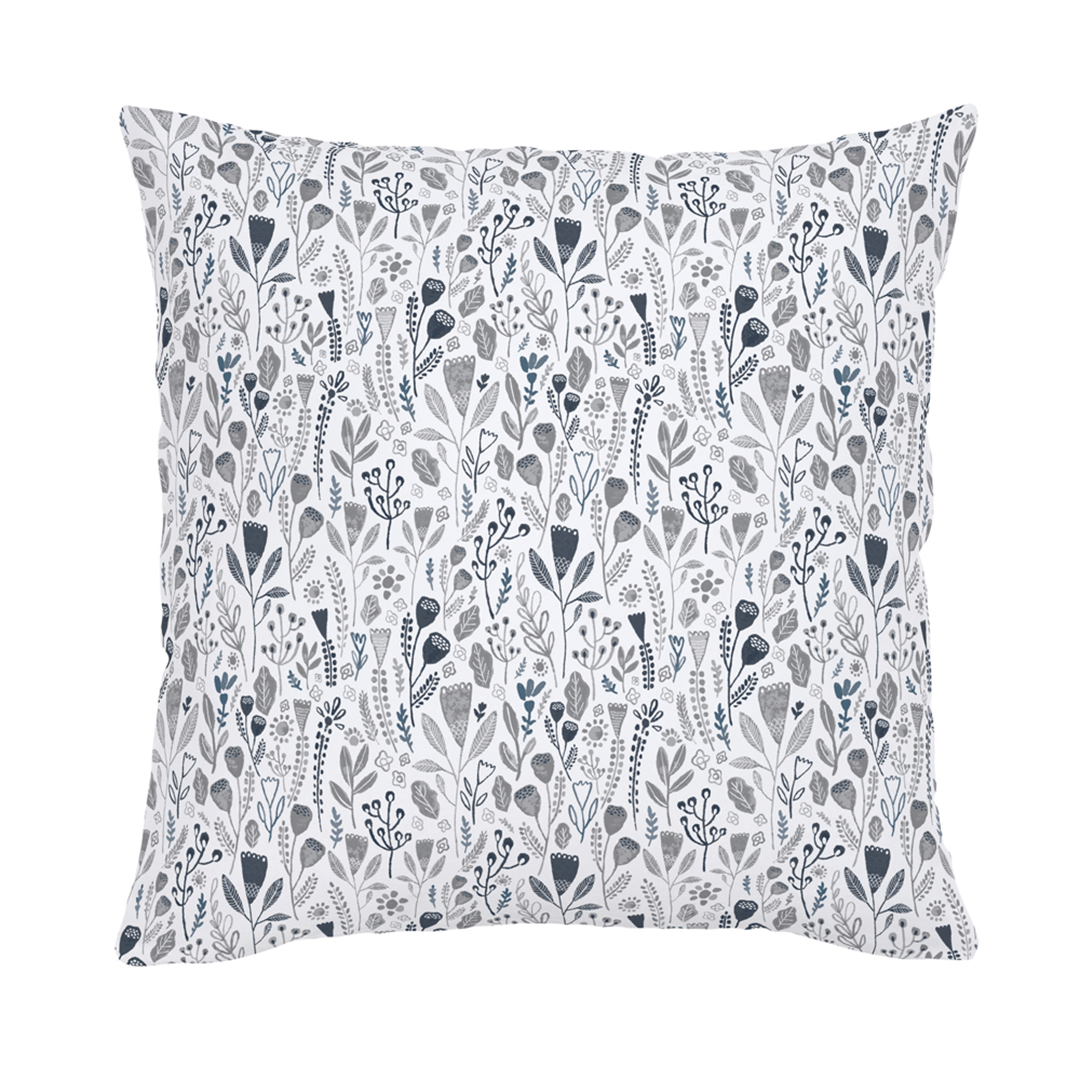 Blue Woodland Throw Pillow - 18""