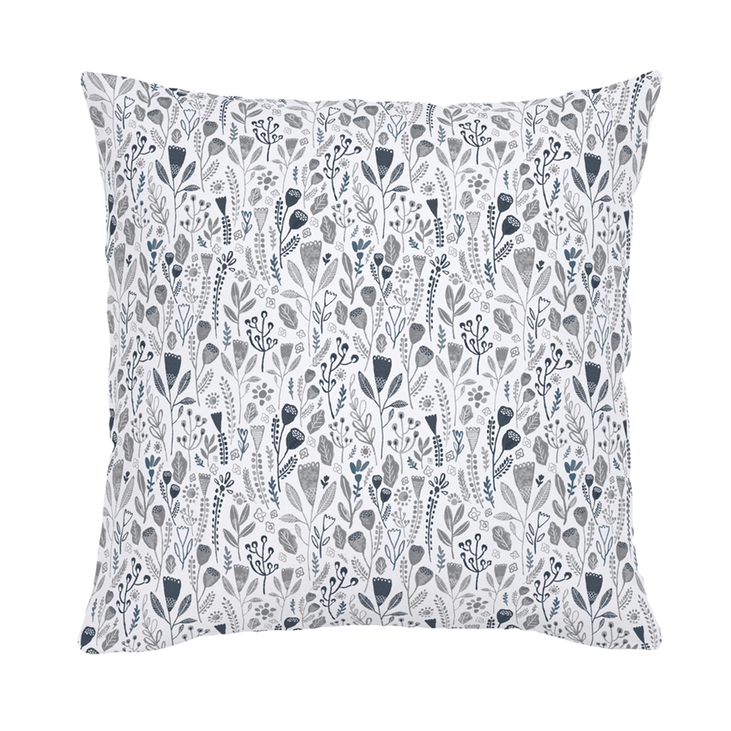 Blue Woodland Throw Pillow - Project Nursery