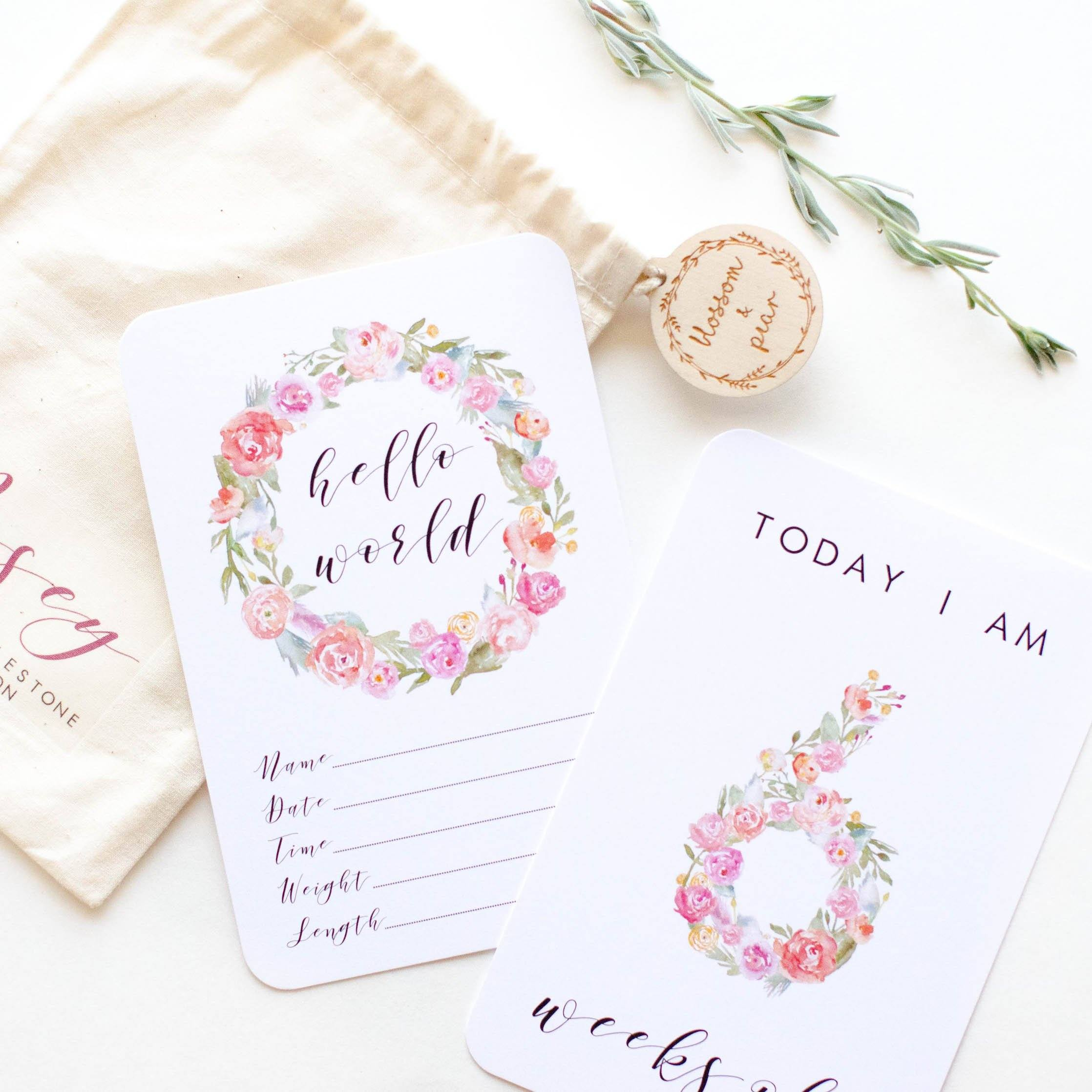Baby Moment + Milestone Cards - Posey Collection - Project Nursery