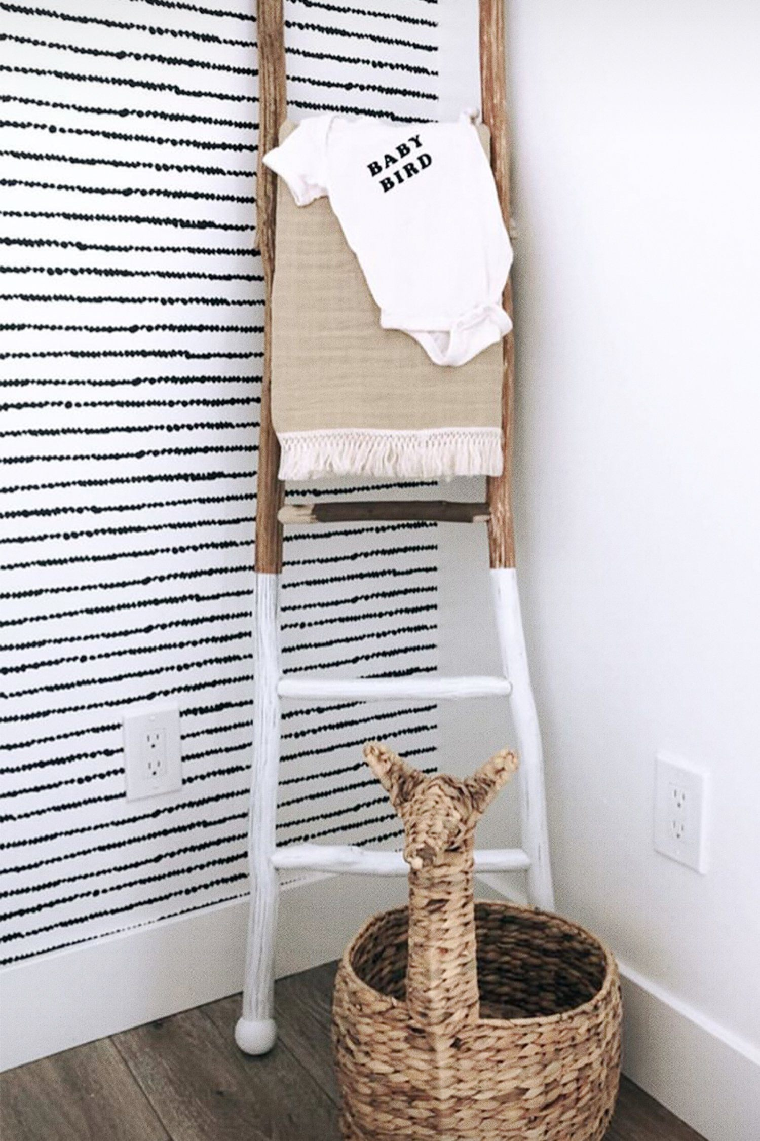 Black Dotted Bohemian Wallpaper - Project Nursery