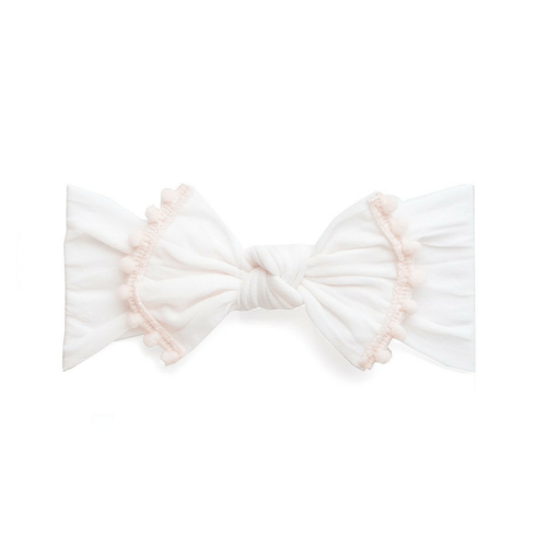 Ballet Pink Trimmed Classic Knot Headband - Project Nursery