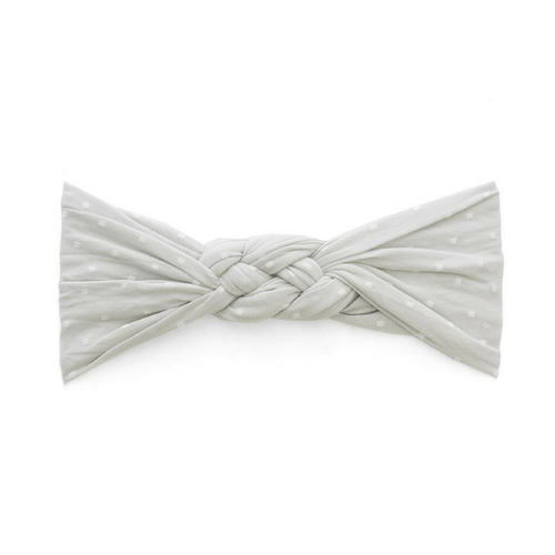 Grey Dot Sailor Knot Headband - Project Nursery