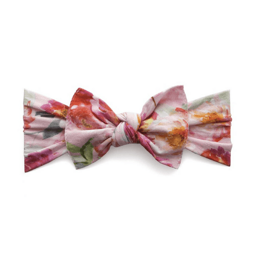 Pink Floral Printed Knot Headband - Project Nursery