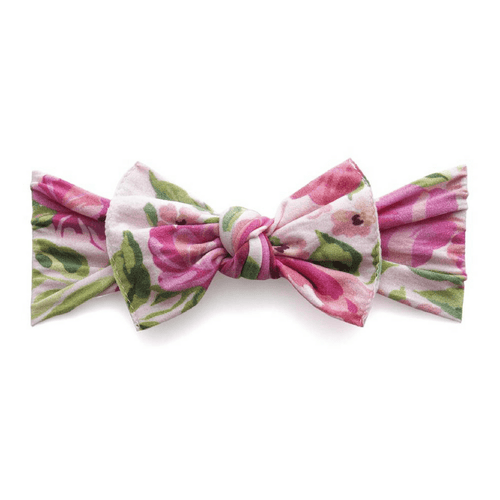 Pink Rose Printed Knot Headband - Project Nursery