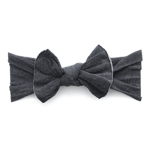 Stonewash Charcoal Patterned Knot Headband - Project Nursery