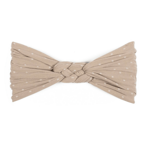 Taupe Dot Sailor Knot Headband - Project Nursery