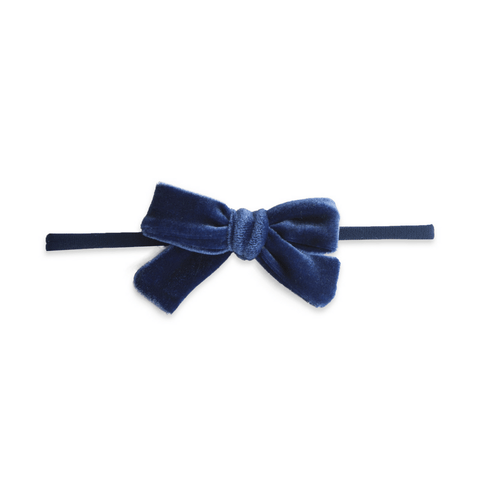 Silver Stripe Cotton Bow Headband