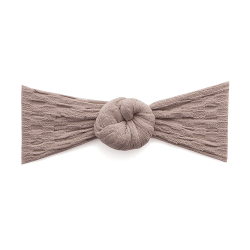 Waffle Bun Headband in Taupe - Project Nursery