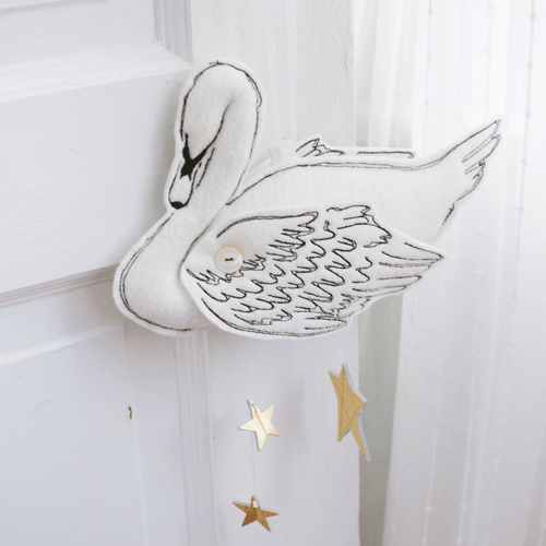 Luxe Gold Swan Mobile - Project Nursery
